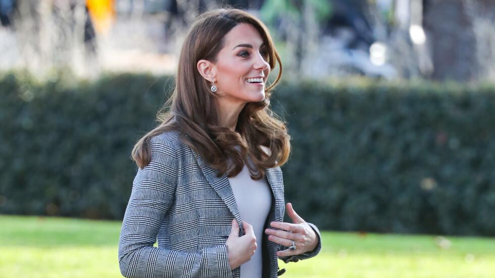 Кейт Мидълтън с необичайна визия, замени роклята с панталон