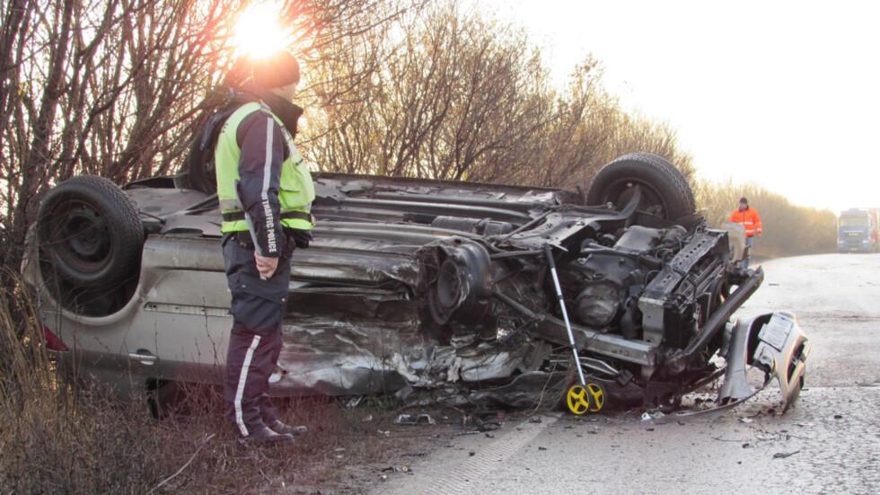Трима души пострадаха при катастрофа на пътя Русе-Разград