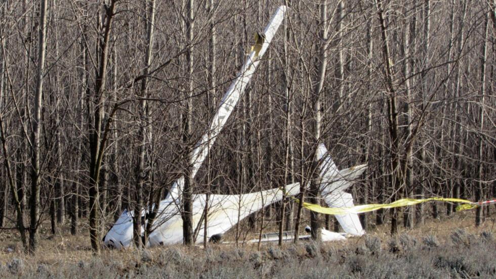Малък самолет падна в гора край Русе