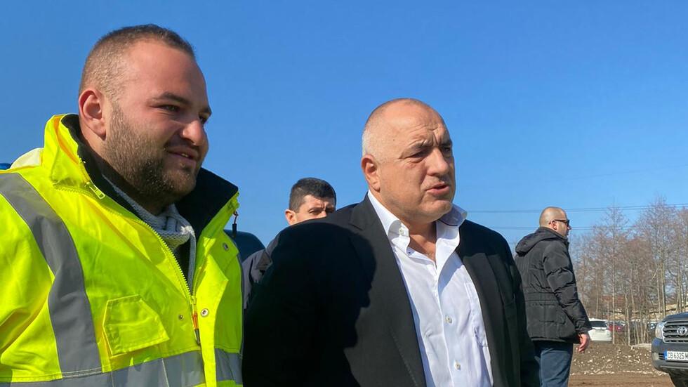 Борисов инспектира строителството на Околовръстното в София