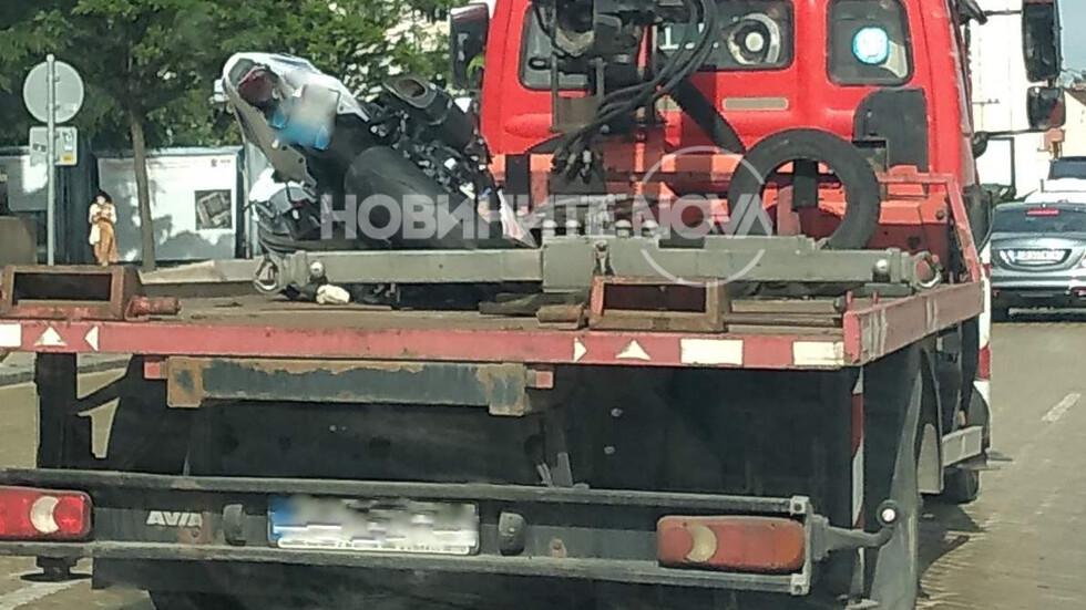 """Моторист загина при катастрофа на """"Цариградско шосе"""""""