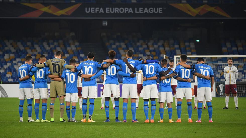 """Футболистите на """"Наполи"""" отдадоха дължимото на великия Марадона"""