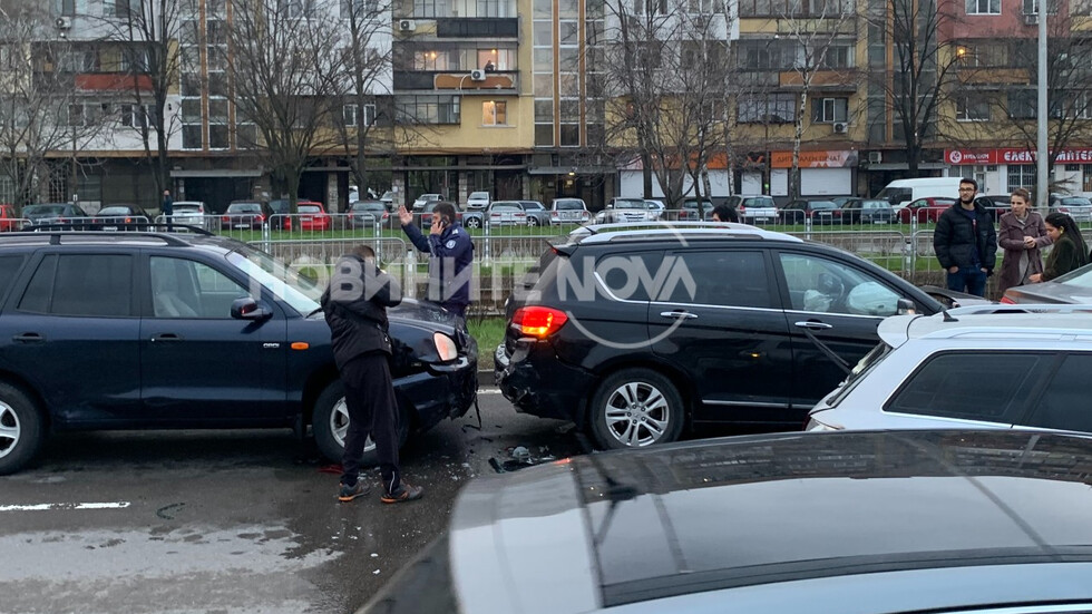 Верижна катастрофа с 6 коли в София