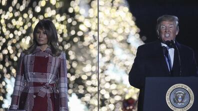 Тръмп и Мелания запалиха светлините на коледното дърво във Вашингтон