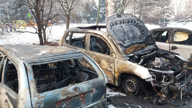 Коли изгоряха на паркинг в София