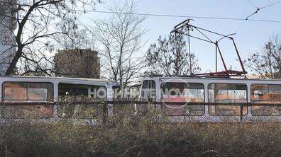 Катастрофа с три трамвая в София