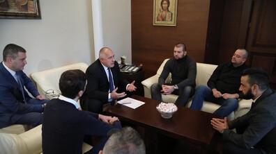 """Феновете на """"Левски"""" на среща с премиера Борисов"""