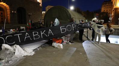 82-ра вечер на антиправителствени протести в София