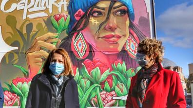 Нов стенопис краси центъра на София