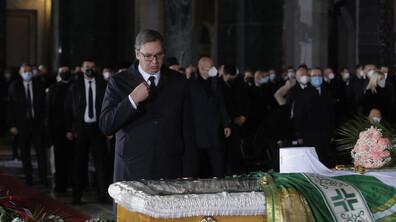 Погребаха сръбският патриарх Ириней