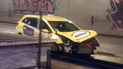 Катастрофа с такси в София