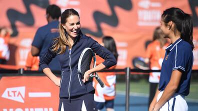 Кейт Мидълтън игра тенис с шампионите на US Open