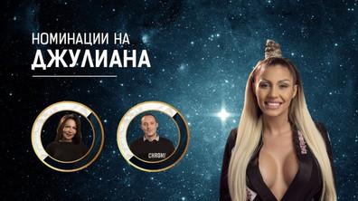 Номинациите на Джулиана Гани - Big Brother: Most Wanted 2018