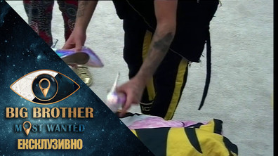 Цецо и Албена слагат токчета на Стойко докато спи - Big Brother: Most Wanted 2018