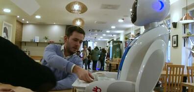 Роботи сервират в кафене и Френският Спайдърмен изкачи поредна сграда